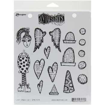Dyan Reaveley's Dylusions Cling Stamp Love Struck Lucy