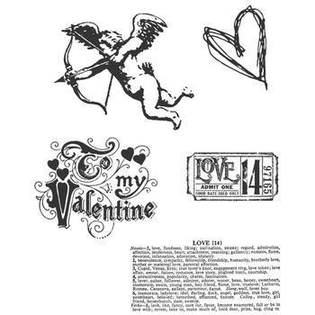 Tim Holtz Cling Rubber Stamp Set love struck