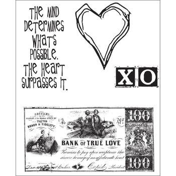 Tim Holtz Cling Rubber Stamp Set from the heart