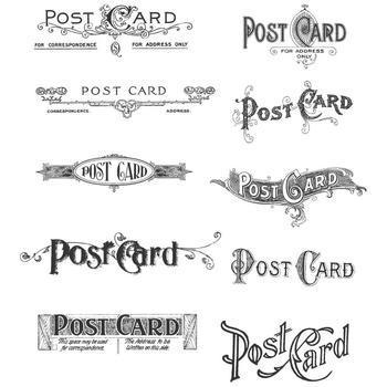Tim Holtz Cling Rubber Stamp Set postcards
