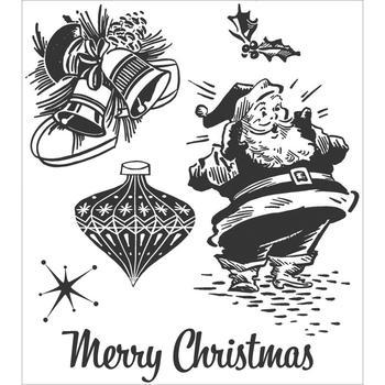 Tim Holtz Cling Rubber Stamp Set christmas memories