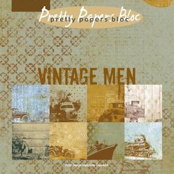 Pretty Papers bloc Vintage men