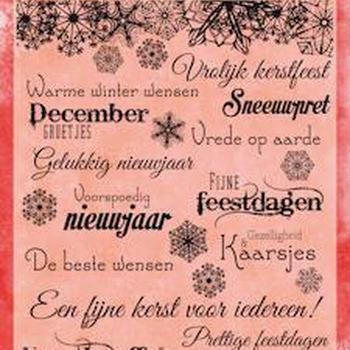 Joy! stempel kerst