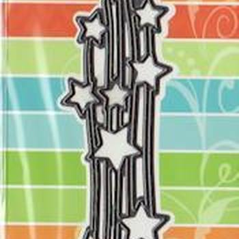 Craftables stencil falling stars