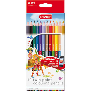 BRUYNZEEL 12 TWIN POINT COLOURING PENCILS
